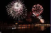 Firework in Budapest - Panoramic view of the Budapest Fireworks Show from the Hotel Novotel Budapest Danube