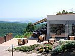 Terrace of Hotel Residence Ozon with panoramic view to Matra